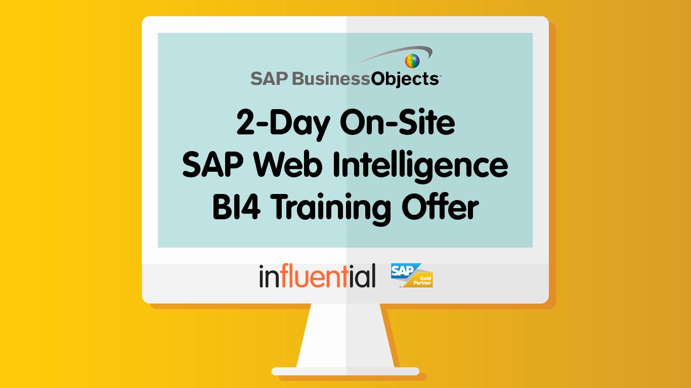 2-Day Web Intelligence BI4 Training Offer: Save £800!